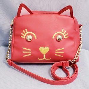 Betsey Johnson red cat purse crossbody 🆕️💕